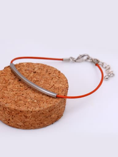 Women All-match Adjustable Length Leather Bracelet