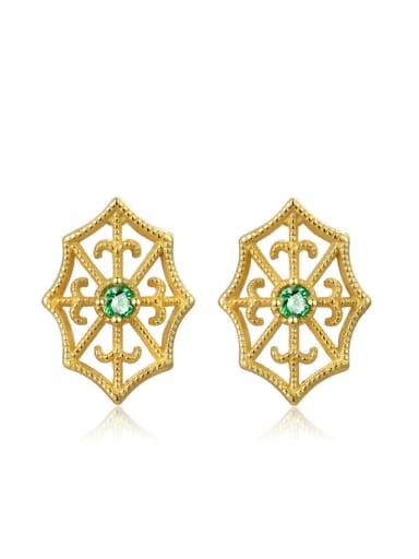 Geometric Shaped Retro Style Stud Earrings