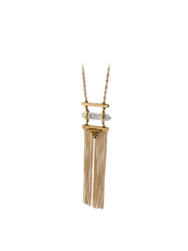 Simple Long Tassel Pendants Necklace
