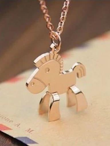 Little Horse Pendant Clavicle Necklace