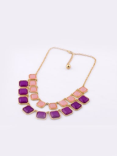 Personality Geometric Resin Multi-layer Short Nnecklace