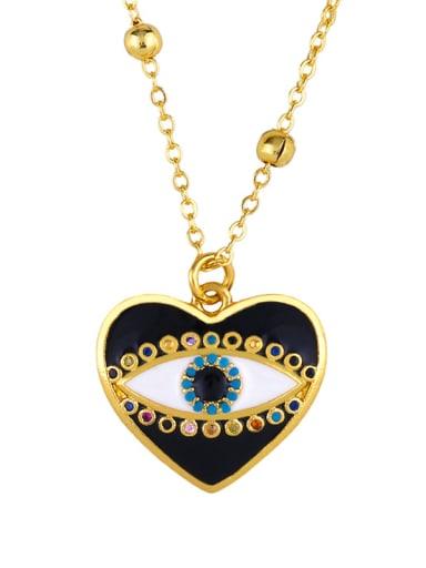 Copper With Enamel Trendy Evil Eye Necklaces