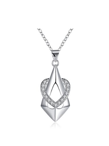 Simple Heart shaped Zircon Necklace