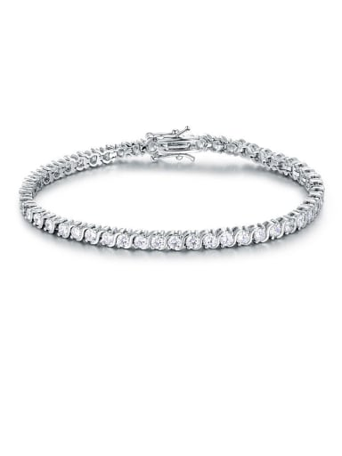 S Shaped Zircon Bracelet