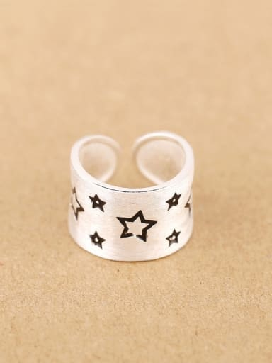 Fashion Stars Silver Opening Ring