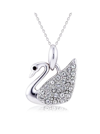 Austria Crystal Swan Shaped Necklace
