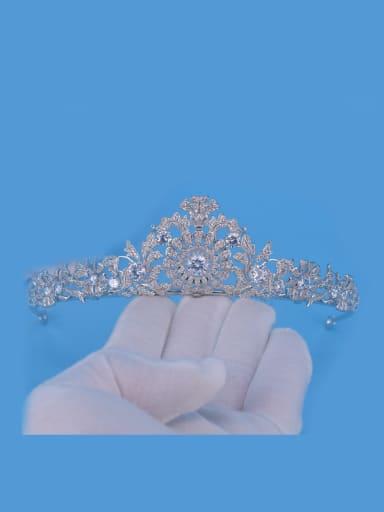 Party Birthday Wedding Copper Zircons Hair Accessories