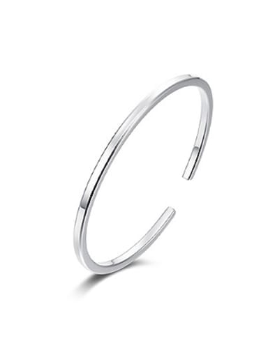 Simple 999 Silver Opening Bangle