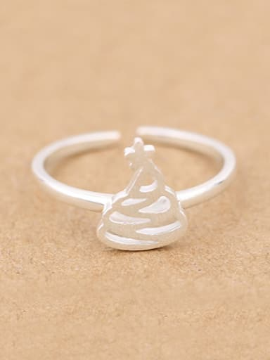 Hollow Christmas Tree Opening Ring