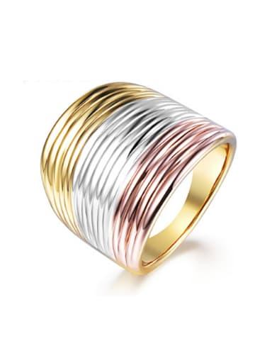 Men Delicate Three Color Wide Version Ring