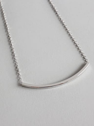 Sterling silver simple fashion square necklace