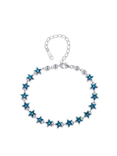 Simple Blue Swarovski Crystals Stars Bracelet