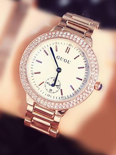 GUOU Brand Trendy Rhinestones Watch