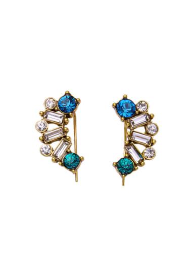 Luxury Rhinestones Alloy stud Earring