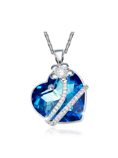 new 2018 2018 2018 2018 2018 2018 2018 2018 Heart-shaped Crystal Necklace