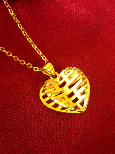24K Gold Plated Heart Shaped Necklace