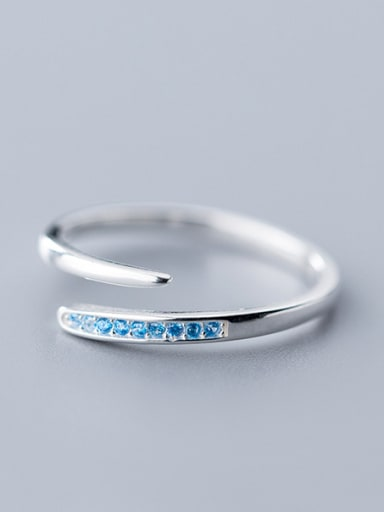 925 Sterling Silver With Platinum Plated Fashion Free Size  Rings