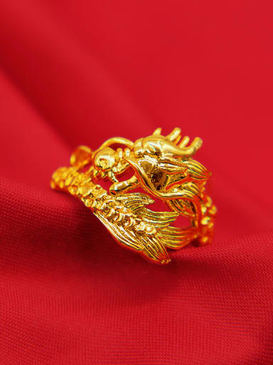 Delicate Dragon Shaped Couples Ring