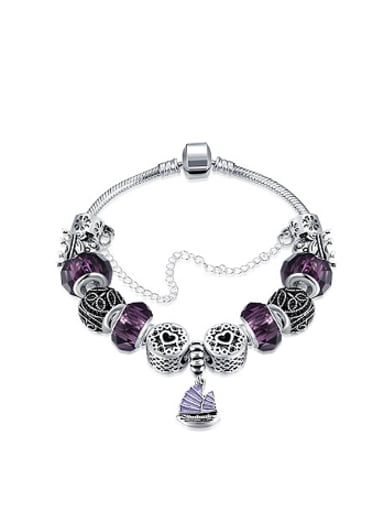 Fashion Purple Glass Personalized Bracelet