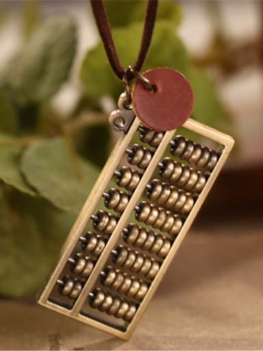 Women Retro Abacus Shaped Necklace