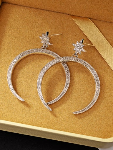 European and American creativity exaggeration star opening Big Circle Earrings