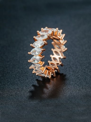 2018 Rose Gold Plated Zircon ring