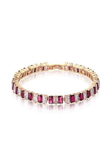 2018 Copper Alloy 18K Gold Plated Fashion Zircon Bracelet