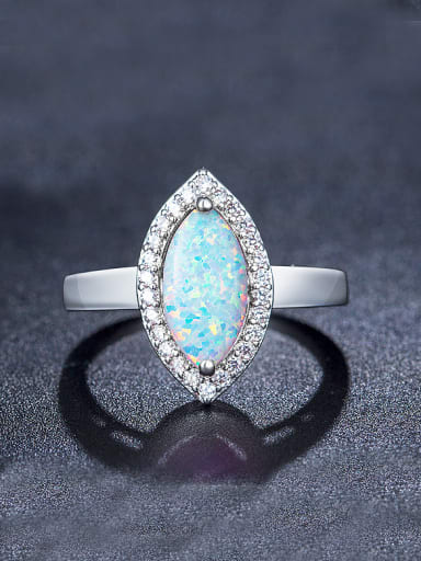 Oval Opal Stone Engagement Ring