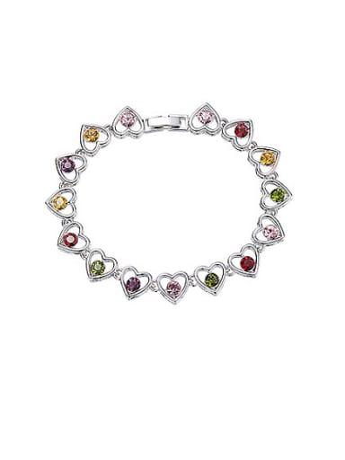 Multi-color Heart-shaped Bracelet