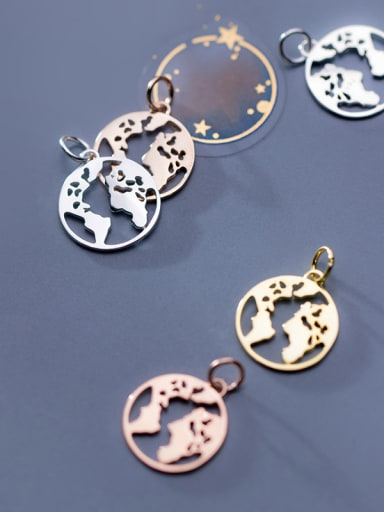 925 Sterling Silver With Smooth Simplistic Round Charms