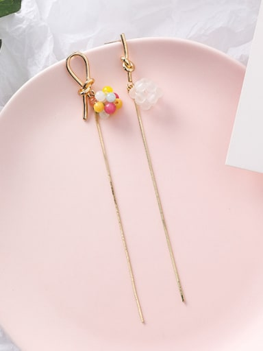 Alloy With Imitation Gold Plated Simplistic Friut Threader Earrings