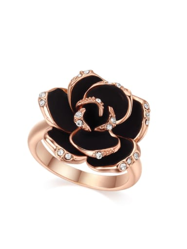 Retro Style Flower Plating Women Ring