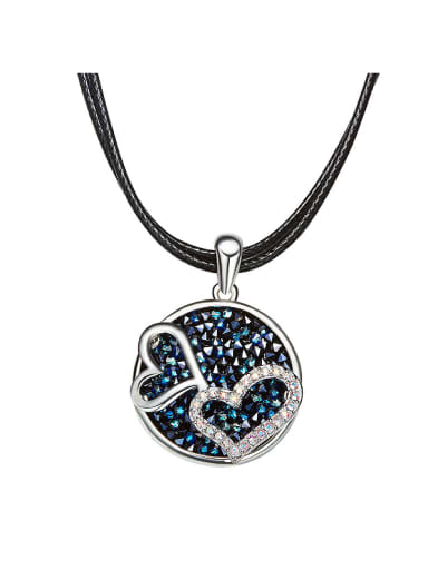 Heart-shaped Crystal Collar