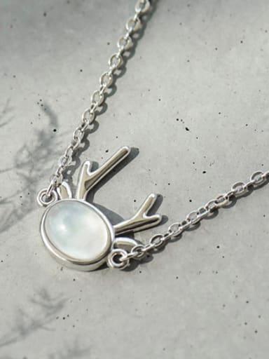 Simple Oval Stone Silver Bracelet