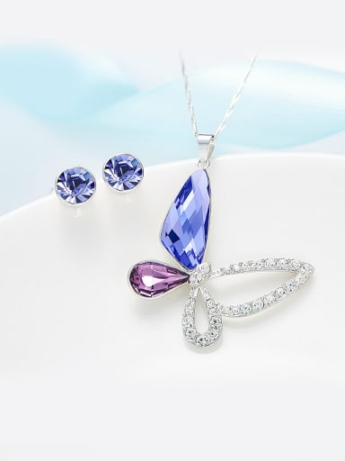 S925 Silver Butterfly Shaped Set