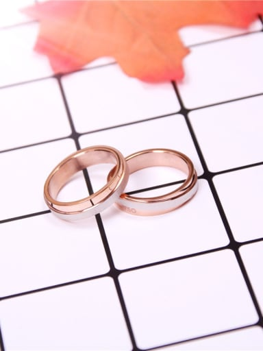 Two Colors Simple Lover Ring