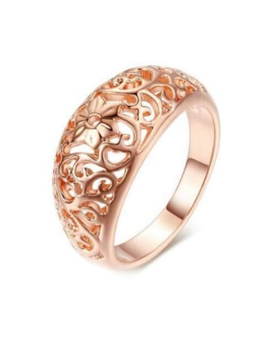 Simple Hollow Classical Rose Gold Plated Ring