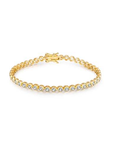 Gold Plated Zircon Bracelet
