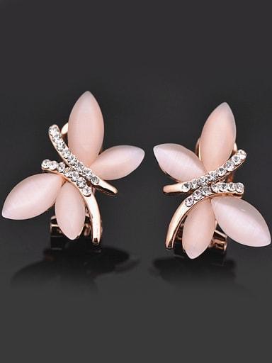 Elegant Dragonfly Opal stones Rhinestones Alloy Stud Earrings