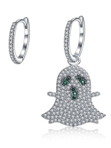 New Micro-inlay zircon asymmetrical phantom Earrings