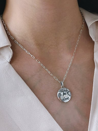 925 Sterling Silver With Platinum Plated Cute  Little Bird  Necklaces
