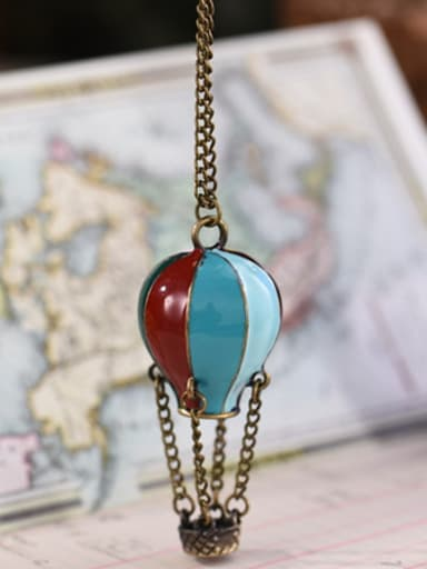 Colorful Balloon Shaped Enamel Necklace