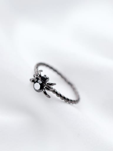 Personality Spider Shaped S925 Silver Open Design Ring