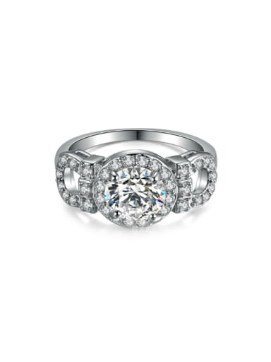 Party Accessories Women Ring with Shining Zircons