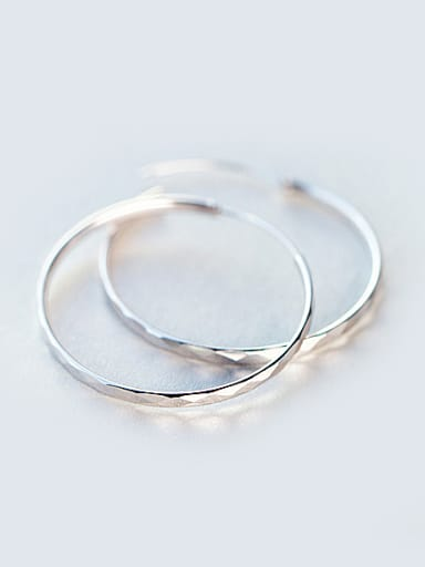 S925 silver exaggerated large circle hoop earring