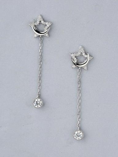 Women Delicate Star Shaped threader earring
