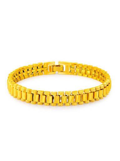 Fashionable 24K Gold Plated Geometric Shaped Bracelet