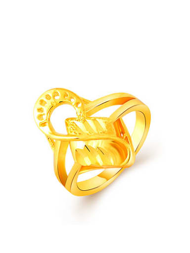 Personality 24K Gold Plated Number Eight Shaped Ring
