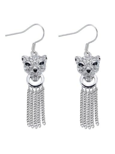 Cheetah Shaped Crystal hook earring