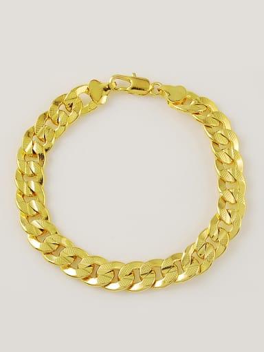 Men High Quality 24K Gold Plated Round Shaped Bracelet